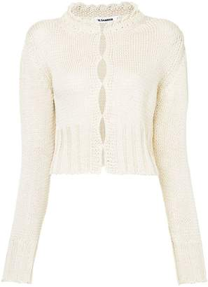 Jil Sander scalloped-collar cardigan
