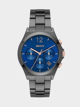 DKNY Parsons Gunmetal Chronograph Watch