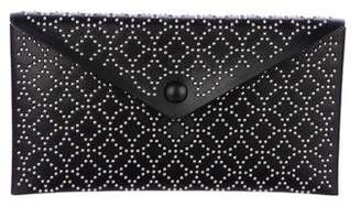 Alaia Embellished Leather Envelope Clutch