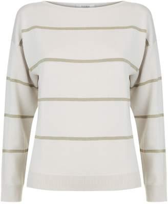 Peserico Lurex Stripe Printed Sweater