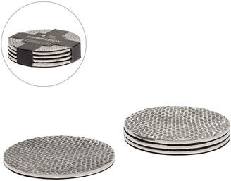 Torre & Tagus Impression Hammered Aluminum Coasters Set Of Four