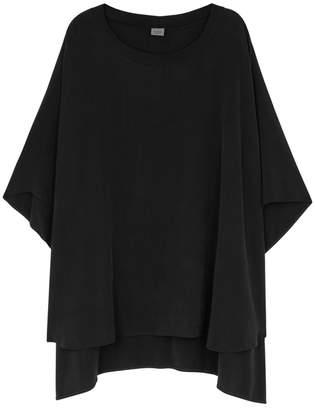 Crea Concept Black Oversized Cupro-blend Top