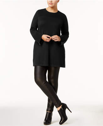 Alfani Plus Size Ribbed Tunic Sweater