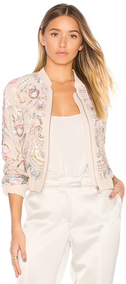 Needle & Thread Iridescent Cinder Bomber $469 thestylecure.com