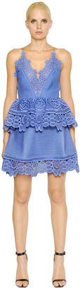 Peplum Dress With Lace Trim $445 thestylecure.com