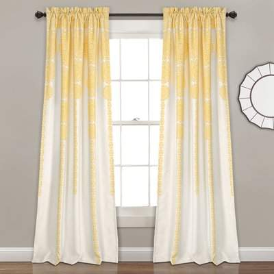 Wayfair Juba Medallion Room Darkening Rod Pocket Curtain Panels
