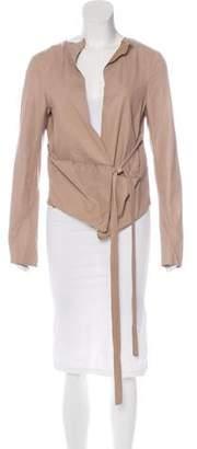 Marni Leather Wrap Jacket