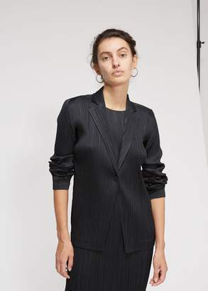 Pleats Please Issey Miyake Pleats Single Button Jacket