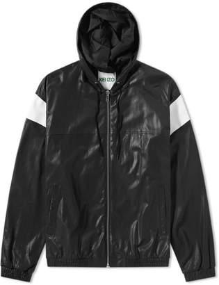 Kenzo Hooded Leather Jacket