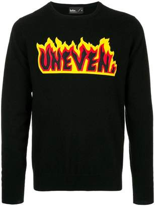 Kolor Uneven flame sweater