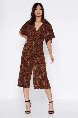 Nasty Gal On the Prowl Leopard Jumpsuit
