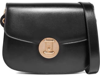 Calvin Klein Leather Shoulder Bag - Black