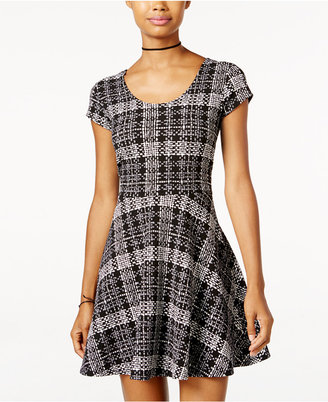 Planet Gold Juniors' Printed Fit & Flare Dress $39 thestylecure.com