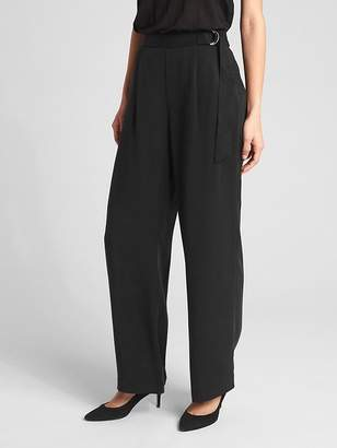 Gap High Rise Belted Wide-Leg Pants in TENCEL