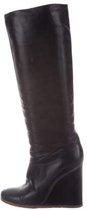 Lanvin Knee-High Wedge Boots
