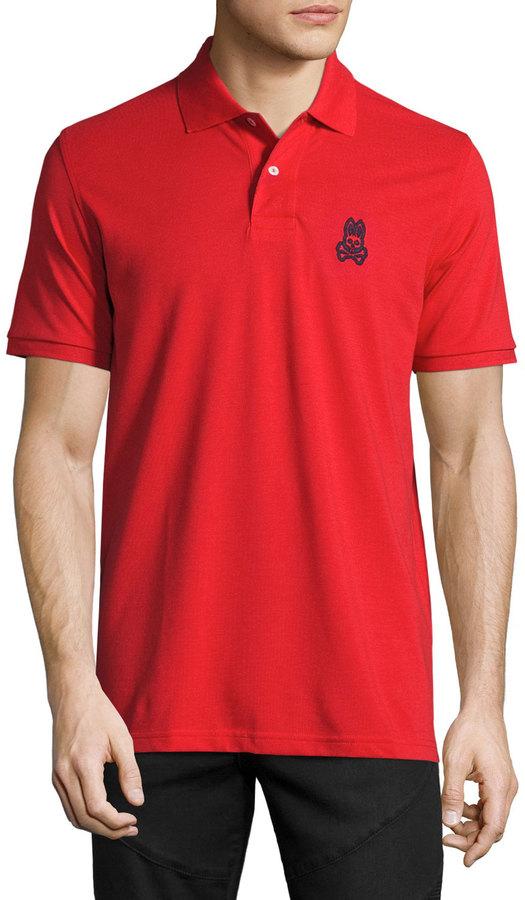 Psycho Bunny Tall Bunny Pima Polo Shirt, Brilliant Red
