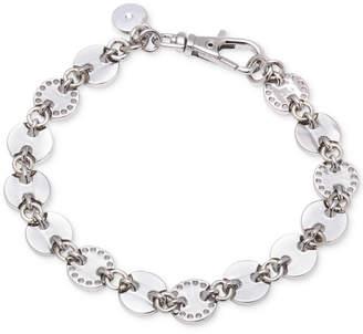 DKNY Silver-Tone Multi-Disc Link Bracelet