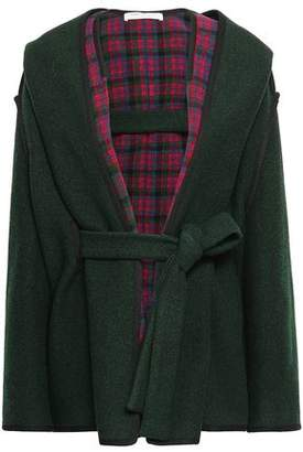 Philosophy di Lorenzo Serafini Checked Wool-blend Hooded Coat