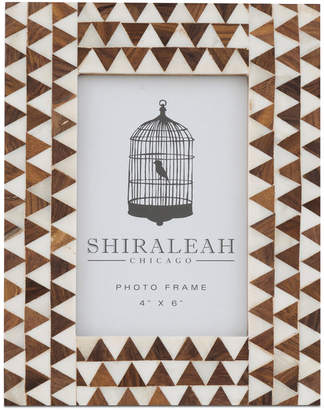 "Shiraleah Boheme Triangle Inlay 4"" x 6"" Picture Frame"