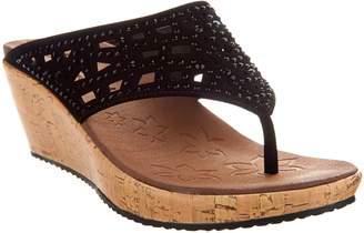 7eef8b65c Skechers Wedge Thong Sandals w  Rhinestones - Dazzled