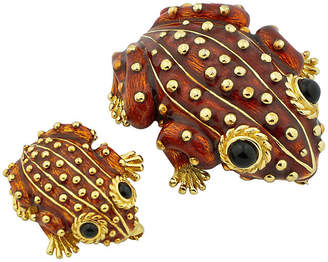 One Kings Lane Vintage Pair of Ciner Enamel Frog Brooches