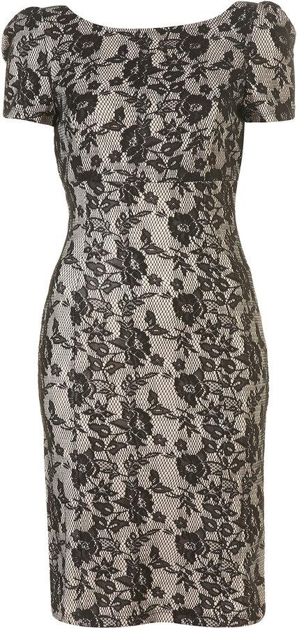 Bonded Lace Pencil Dress
