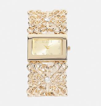 Avenue Gold Filigree Stretch Watch
