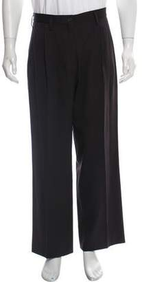 Bottega Veneta Pleated Wool Dress Pants