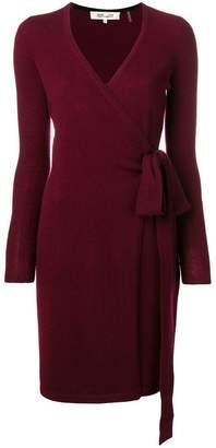 Diane von Furstenberg cashmere knit wrap dress