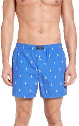 Men's Polo Ralph Lauren Polo Player Woven Cotten Boxers $28 thestylecure.com