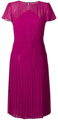 Capucci pleated flared midi dress