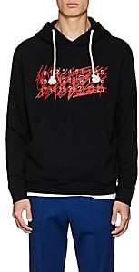 Maison Margiela Men's Logo-Embroidered Cotton Hoodie-Black