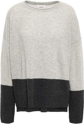Charli Two-tone Cashmere Sweater