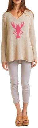 Wooden Ships Lobster V Neck Sweater $140 thestylecure.com