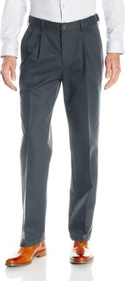 Haggar Men's Work To Weekend Hidden Expandable Waist Pleat Front Pant