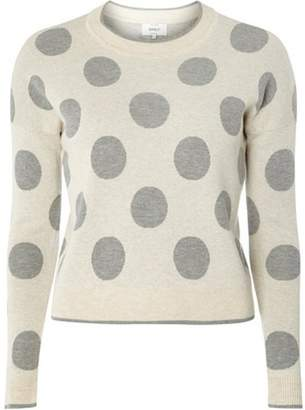 Dorothy Perkins Womens **Only Grey Big Spotted Knitted Jumper
