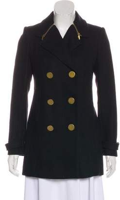 Tory Burch Wool-Blend Double-Breasted Coat