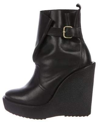 Pierre Hardy Round-Toe Wedge Ankle Boots Black Round-Toe Wedge Ankle Boots