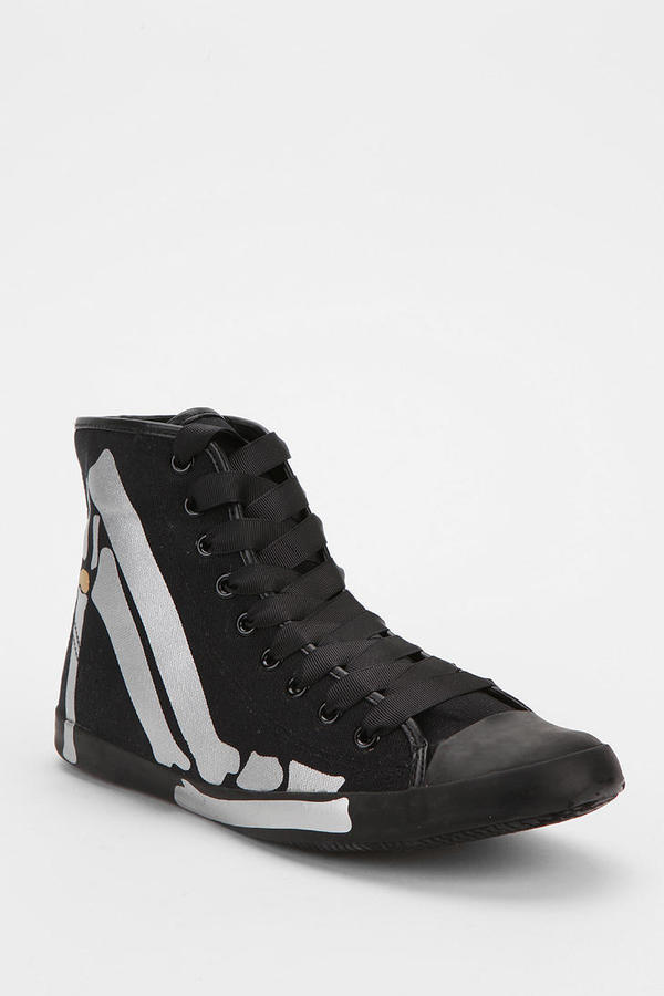 Urban Outfitters Be&D Skeleton Talon High-Top Sneaker