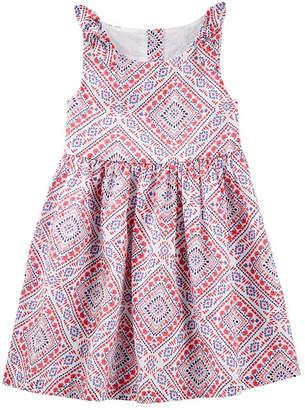 Osh Kosh Oshkosh Short Sleeve Sundress - Toddler Girls