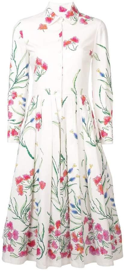 floral patterned shirt dress