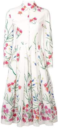Carolina Herrera floral patterned shirt dress