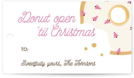 Donut Open 'Til Christmas Gift Tags
