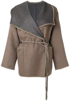 Les Copains contrasting lapel jacket