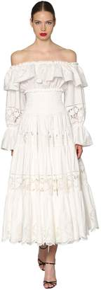 Dolce & Gabbana Off The Shoulder Poplin Dress