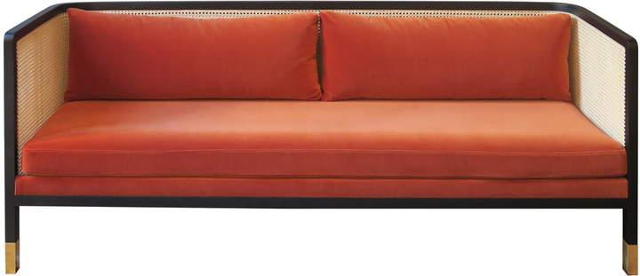 red edition - Wicker Sofa Velvet 210, fox (T26)