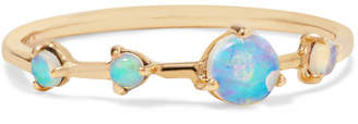 Wwake - Four Step 14-karat Gold Opal Ring