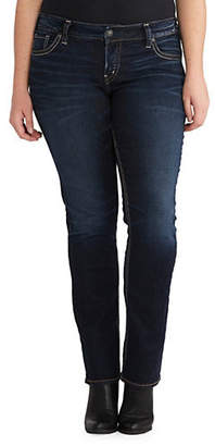 Silver Jeans Suki Straight-Leg Whisker Jeans