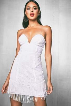 boohoo Premium Corset Sequin Dress