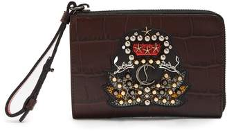Christian Louboutin Tinos crest-embellished leather wallet